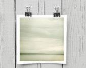 Fine art photograph (clouds 023) contemporary ivory beach home decor