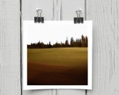 Fine art photograph (landscape 012) brown earthtones rustic forest home decor