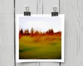 Fine art photograph (landscape 024) red whimsical canadian forest home décor