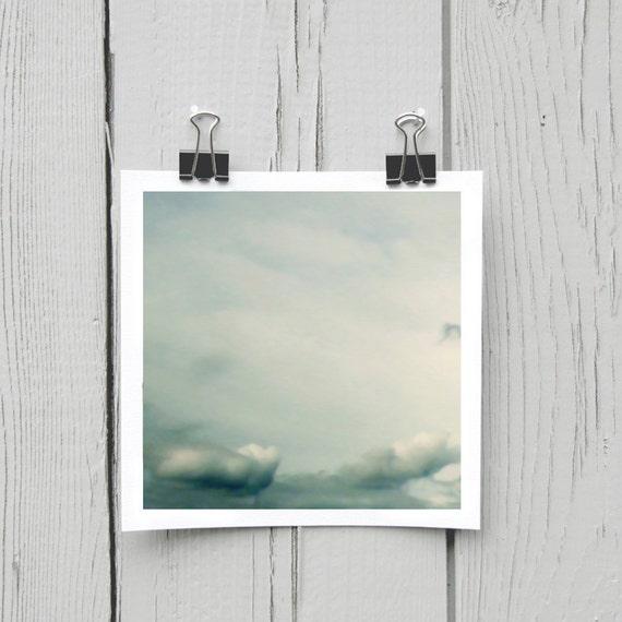 Fine art photograph (clouds 001) baby blue modern nursery decor