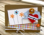 Hugs, love, thinking of you, missing you card