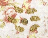 Hand dyed Venise Lace Tiny Rose Appliques Vintage Tea Set of 6
