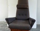 """Adrian Pearsall for craft associates High Back Chair """" Slim Jim"""" FREE SHIPPING"""