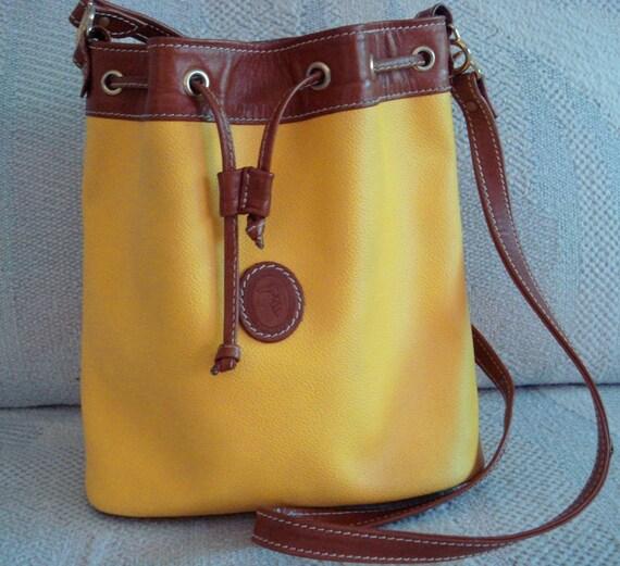 TRUSSARDI Yellow  Drawstring Shoulder Bag