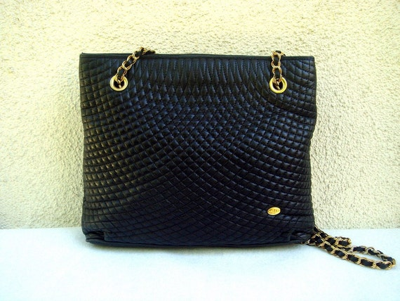 RESERVED BALLY Black Quilted Leather Bag