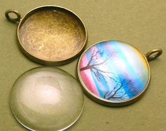 30pcs 18mm glass---round