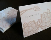 Lotus  -  Embossed Notecards in Blush