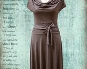 SALE - Feminine Brown Alice Dress (from Alice in wonderland) Size L