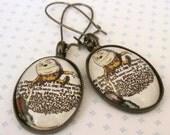 Nowonder Humpty Dumpty earrings - Alice in Wonderland - Image Jewelry - Wonderland Jewelry - Alice Jewelry - Storybook Jewelry