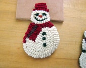 Mr Snowman Hooked Pin