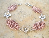 Romantic Chainmaille Bracelet in Rose