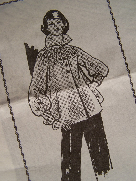 Knitting Pattern Swing Jacket : Vintage Knitted Swing Jacket Pattern by cleaninouthecloset on Etsy