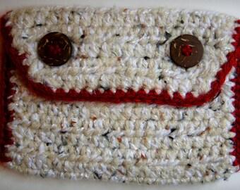 Crocheted Pouch - Aran Fleck