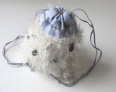 Ice Queen Hand-knit Drawstring Shoulder Bag
