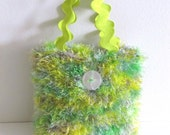 Lust for Lime Hand-knit Handbag