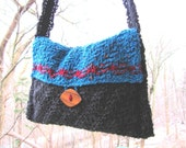 Sophisticated Lady Hand-knit Wool Shoulder Bag