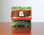 Forest Hart Hand-knit Wool Jewellery/Makeup Pouch