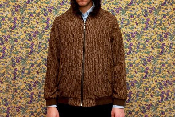 Vintage Brown Fur Hoodie Hood Men Unisex Medium Small 80s Hipster Grandma