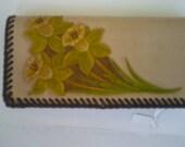 checkbook wallet with flower design
