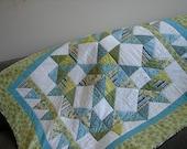 "New ""Charmed Star"" handmade lap quilt"