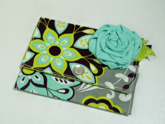 RESERVED FOR TAMMY4575 -  So Fun 'Steel Magnolia' Mini Wallet
