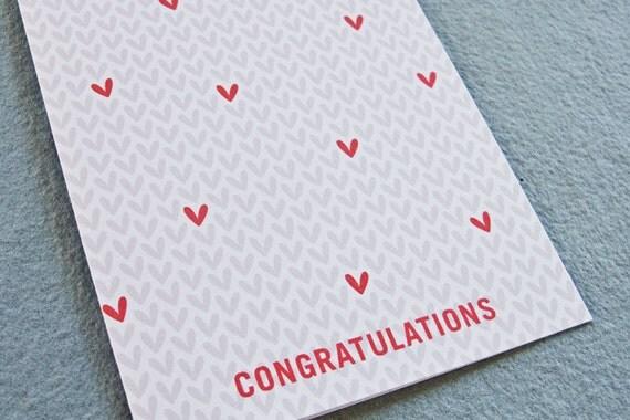 Hearts, Congratulations Card