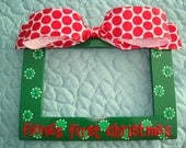 Baby's First Christmas Hand Painted & Personalized 4x6 Picture Frame