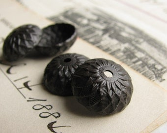 Black acorn bead cap, black antiqued brass, woodland, 13mm (4 bead caps) acorn top, autumn designs, oak tree, acorn beadcap BC-SV-020