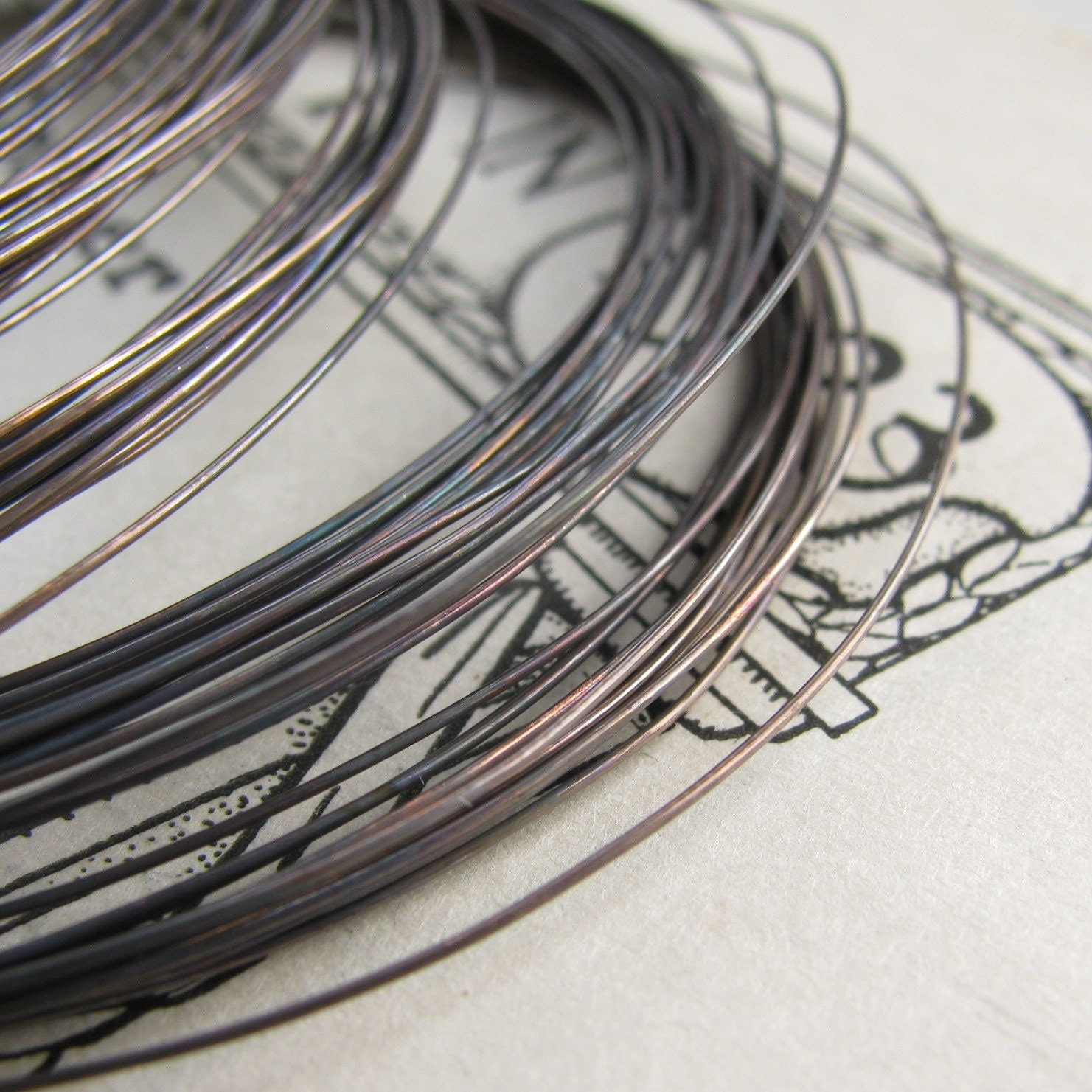 26 Gauge Black Patina Hand Antiqued Wire Dead Soft 10