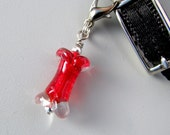 Crystal Birthstone BirthBones Charm--FREE SHIPPING--July--ruby