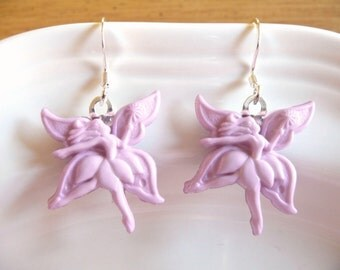 nd-Fanciful Fairy Dangle Earrings in Lavender