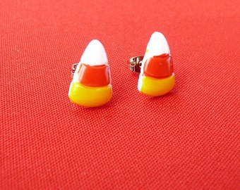 CLEARANCE - Candy Corn Stud Earrings - small