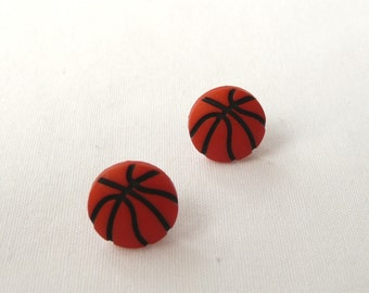 ns-CLEARANCE - Basketball Stud Earrings