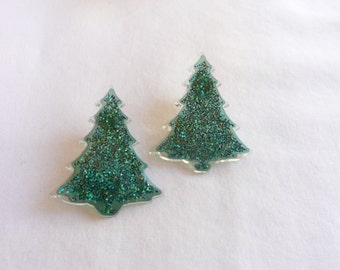 hs-Sparkly Christmas Tree Stud Earrings
