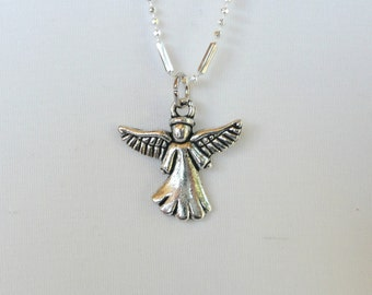 nnm-Silver Southwestern Angel Necklace