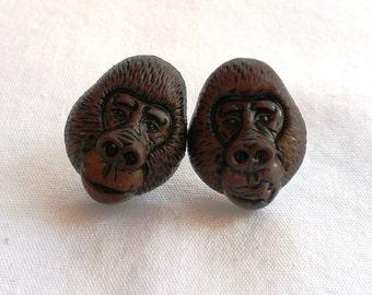 ns-CLEARANCE - Gorilla Stud Earrings