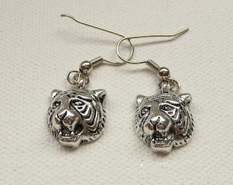 nd-Tiger Head Dangle Earrings