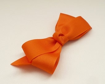 nhb-Orange Basic Hair Bow