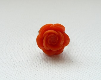 nr-Orange Rose Adjustable Ring
