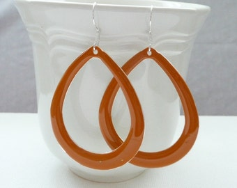 nd-Tangerine Open Teardrop Dangle Earrings