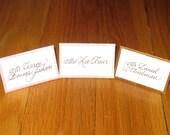 Dupioni Silk Place Cards or Escort Cards