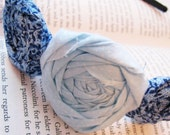 Oh Happy Day Rosette Headband - Blue