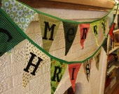 Reversible Fabric Merry Christmas Banner