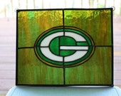 Green Bay Packers Logo Stained Glass