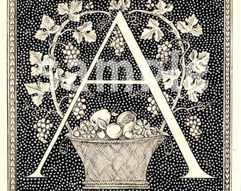 Letter A - Initial Art - Family Name Letter - What Letter Do You Need