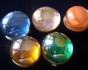 Button Covers,  Jewel Tones Vintage