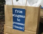 Groomsman Gift Tag - Wedding Set of 10s - Style BG1