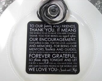 Printed Thank You Cards Wedding Reception - Style TY47 - TEAGAN COLLECTIO | Wedding Thank You Card | Thank You Card | Thank You PRINTED