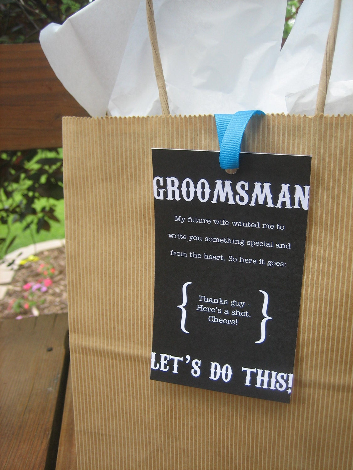 Groomsmen Wedding Gift: PRINTED Groomsmen Gift Tag Wedding 8 By ThatPrettyInvitation