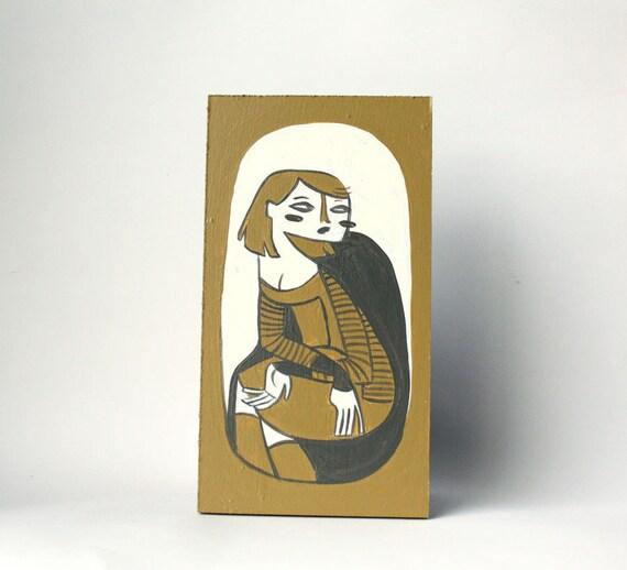 Morgan - mini painting on board